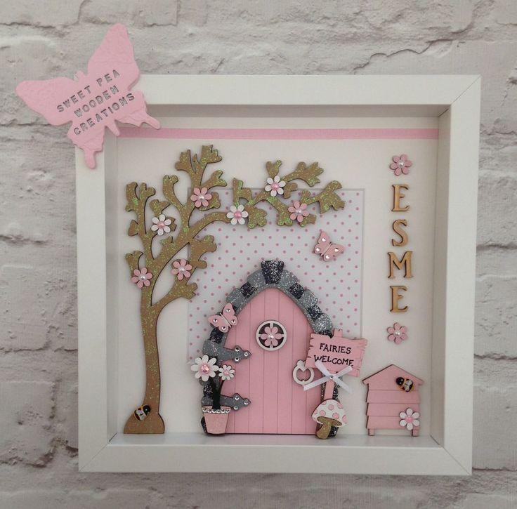 Personalised Fairy Door Picture Frame ~ Christening Gift / Birthday Gift | eBay