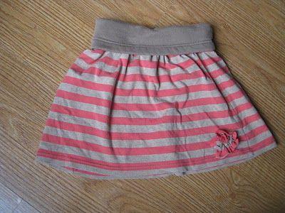 toddler skirt from an old shirt