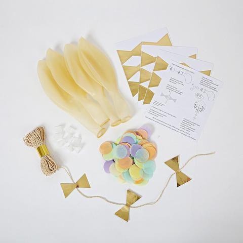 Kit para globos con confetti pastel - Miss Coppelia