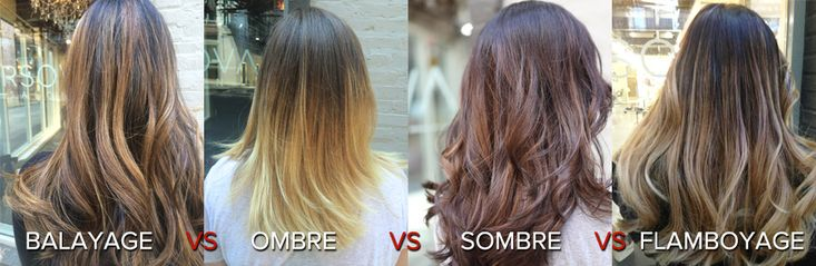 The most frequently asked question about hair color: What is the difference between balayage, flamboyage, ombre, sombre and foiling? Details and examples.