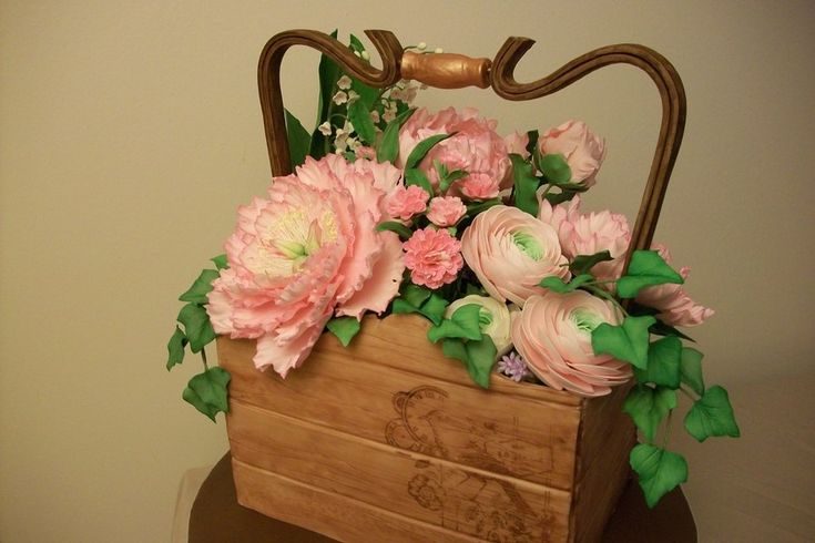 Mothers Day Flower Box Gumpaste Flowers Modeling Chocolate Box ...