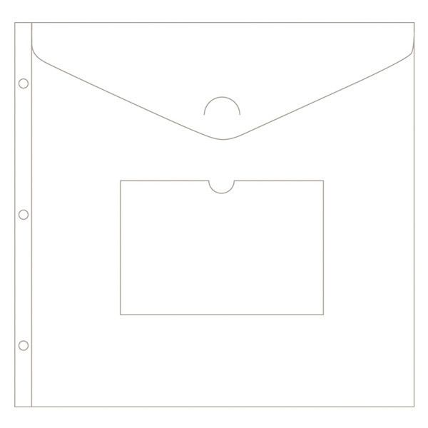 """These Envelope Pages fit in Project Life Albums or in most 12"""" x 12"""" scrapbook binders. Use them to hold art, greeting cards, papers, programs, and other memora"""