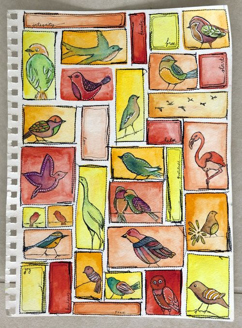 Art Journaling - Strathmore - Birds