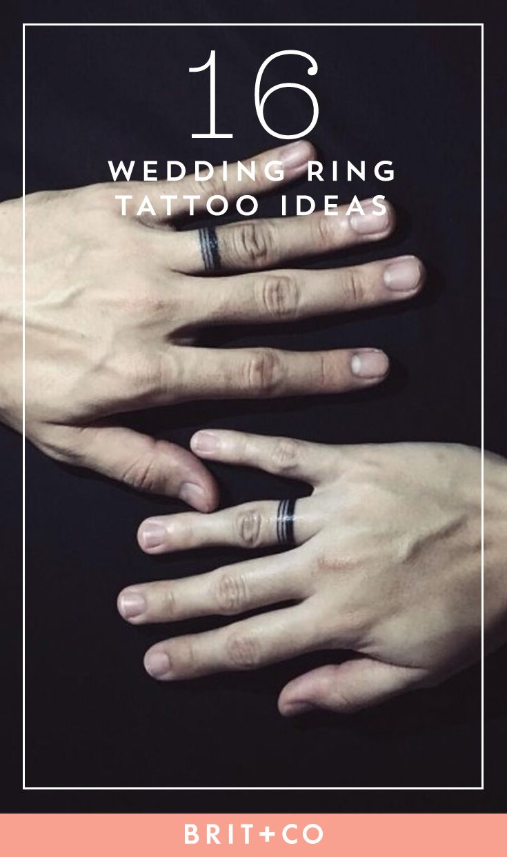 If you're looking to get a wedding band tattoo, save this for inspo.