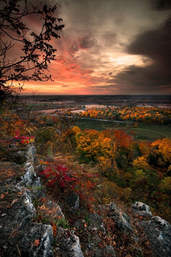 """Autumn Sunrise,"" Rattlesnake Point, Milton Ontario, photo by John Ryan from '500px is Photography'"