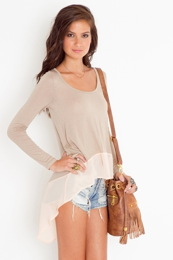Chiffon Tail Tee $48- adorable, looks comfy too