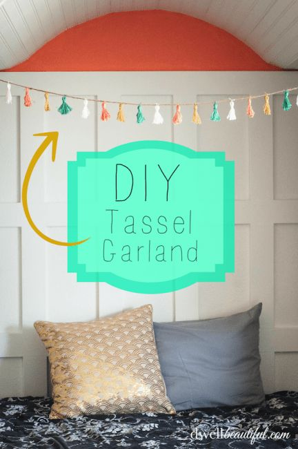 DIY Tassel Garland - Dwell Beautiful
