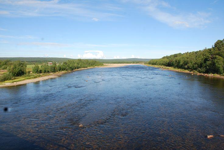#norway #finland #border #north #tenojoki #river