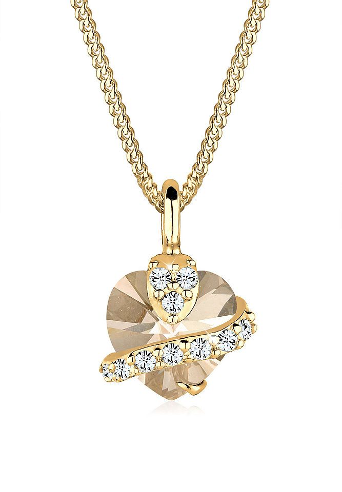 Goldhimmel Halskette »Sterling Silber Herz Swarovski Kristalle vergoldet« Jetzt bestellen unter: https://mode.ladendirekt.de/damen/schmuck/halsketten/goldketten/?uid=9034bd2b-66eb-56bb-b43c-7c19e886ee33&utm_source=pinterest&utm_medium=pin&utm_campaign=boards #goldketten #schmuck #halsschmuck #halsketten