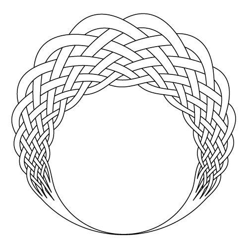 Celtic knot-work aureol circle by Peter Mulkers