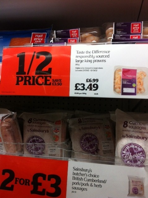 Sainsbury's - Ethical POS alongside value message (2012)