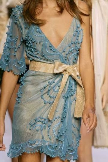 Google+ Romantic and Lovely #DecoArt24.pl #fashion #dress #blue #gold