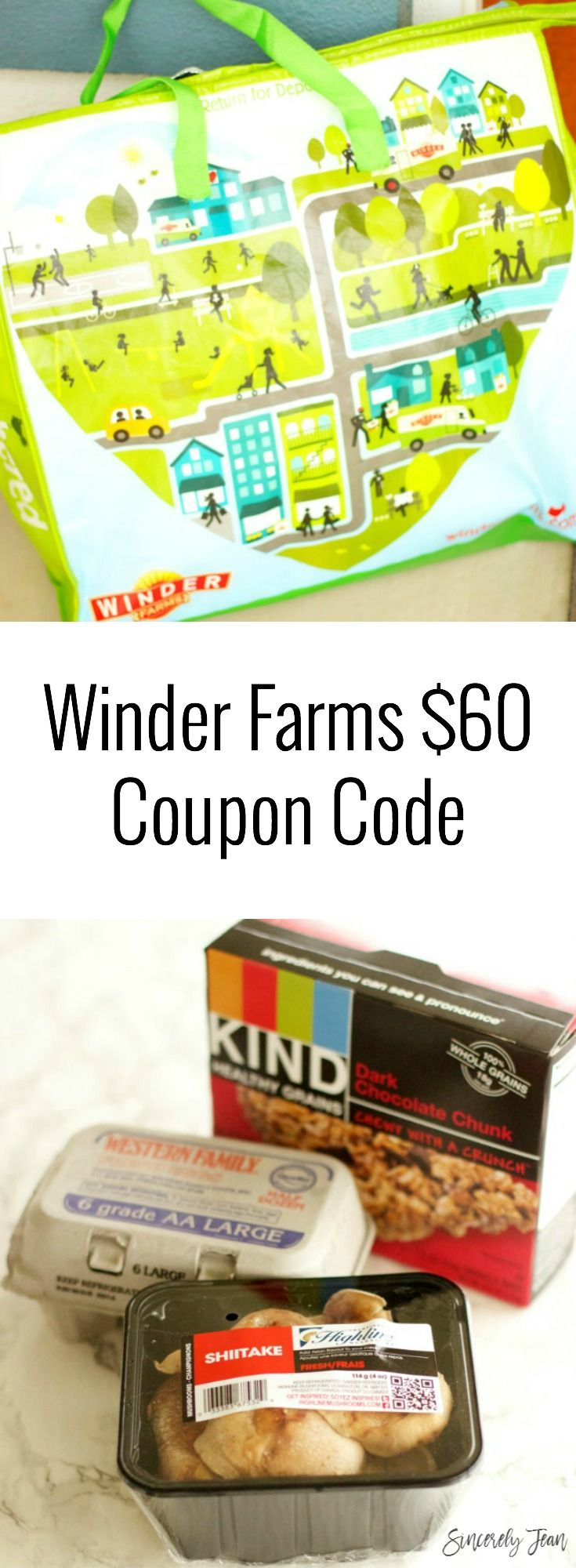 $60 Winder Farms coupon code from SincerelyJean.com #grocery #delivery #service #coupon #groceries #easy #winderfarms #ad