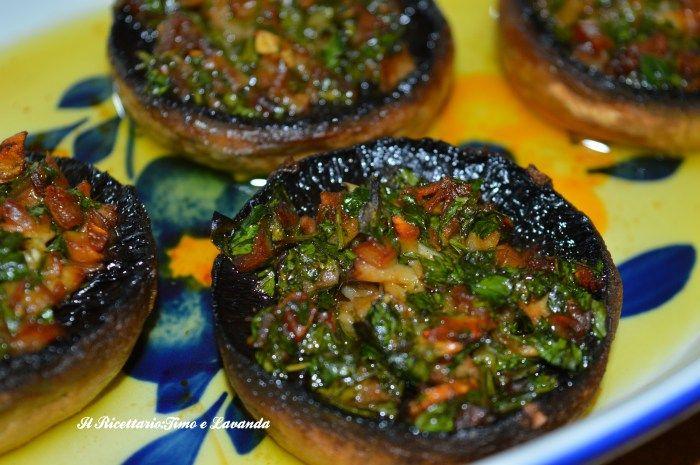 Funghi ripieni - Ricette Blogger Riunite
