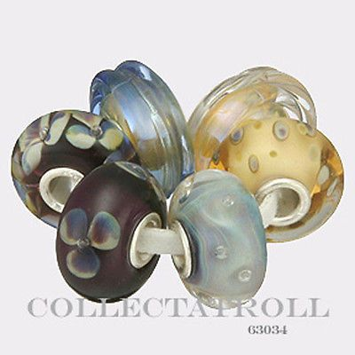Authentic-Trollbeads-Silver-Lakeside-Forest-Kit-6-Beads-TrollBead