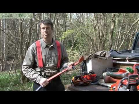 Tools for felling a forestry tree - YouTube