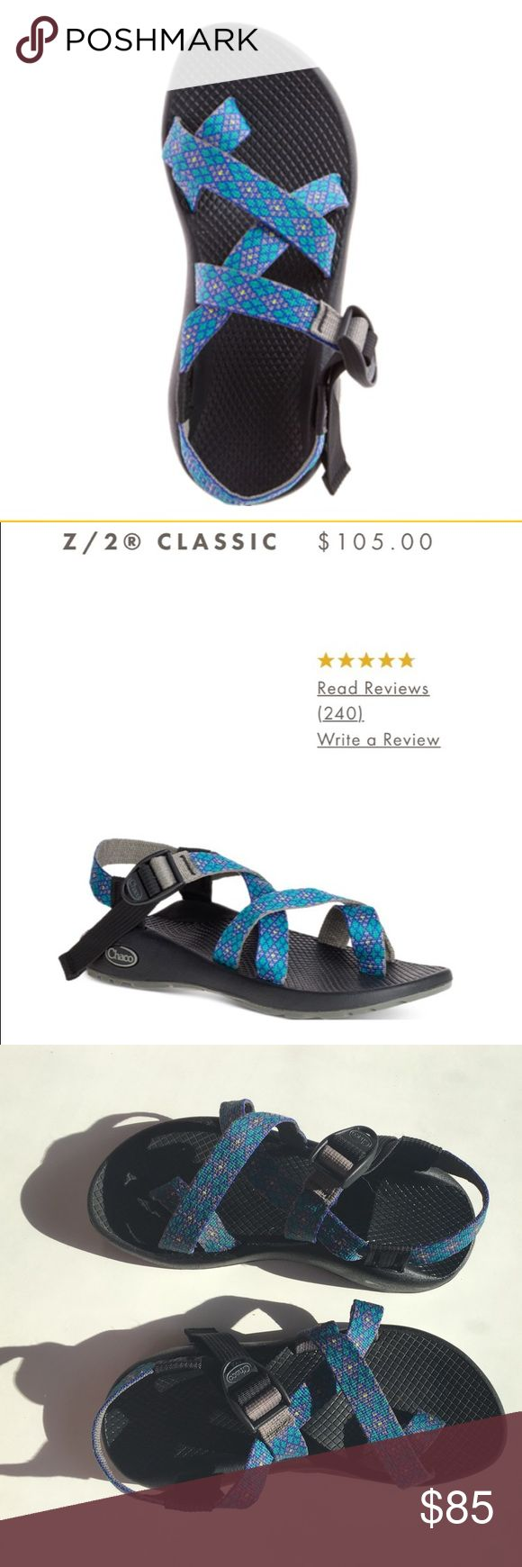 Women's Chaco sandals Like new Chaco sandals! I got these as a gift and they do not fit! They are still on the Chaco website listed for $105❗Perfect summer shoes ☀️ Important : They are adjusted to fit my feet, so you may have to adjust the straps, which can be confusing at first but just go to their website and watch their videos! Do not come with original box‼️  ❌ NO TRADE ❌ NO PAYPAL Chacos Shoes Sandals