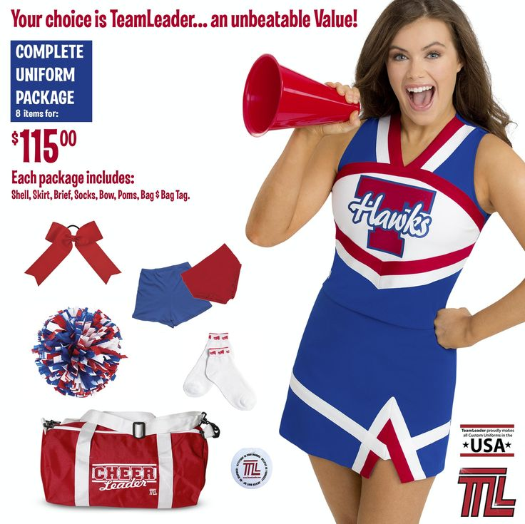 #TeamLeader's #uniform package with 5 items that fits your budget! #cheer |  TL Uniform Packages | Pinterest