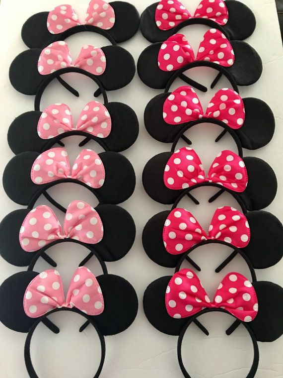 Minnie Mouse Birthday Favors, Minnie Headband, doublé d'un Mickey Mouse, Minnie cotillons, Mickey Party favors