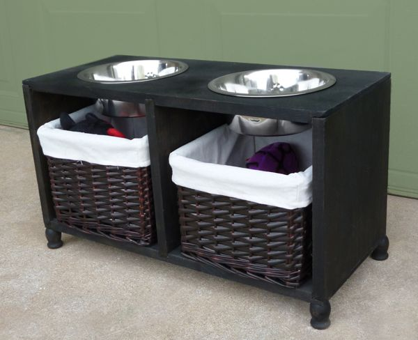 Elevated Dog Feeding and Food Storage Station - My Aggie is a mixed breed who is just about the happiest creature you've ever seen. And when she started to show…