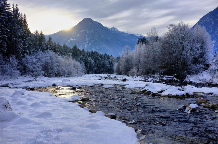 Winter landscape christmas snow landscape for Sfondi paesaggi invernali per desktop
