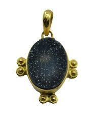 Druzy Gold Plated Pendant beauteous Multi indian AU gift