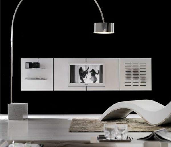 salon ultra moderne meubles télé