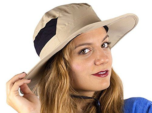SummerBliz Sun Hat For Men And Women - Hat With Sun Protection - Wide Brim Hats With Chin Strap - Floppy Sun Visor Hats >>> Check out @ https://www.amazon.com/dp/ B00URP6SEU /?tag=fitnessztore-20&ef=090716015335
