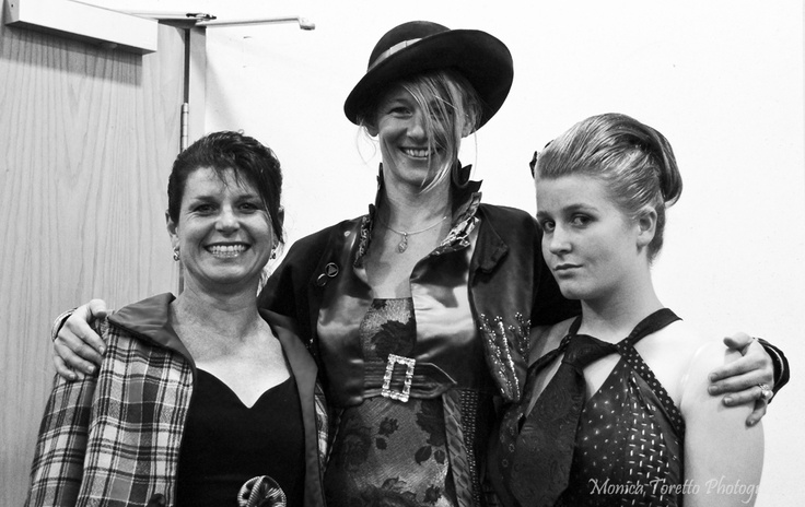 Designer Sharleen Kiff and her models at the Upcycle Fashion Show in Invercargill.  June 14, 2013.