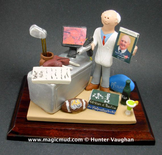 Urologist Figurine  www.magicmud.com    1 800 231 9814    magicmud@magicmud.com $225  Personalized #Medical Gift Figurines, custom created just for you!    Perfect present for all #Doctors, a  heartfelt gift for birthdays, graduations, anniversaries, new office openings, retirement, as a thank you to a great #physician  Surgeon, cardiologist, therapist, nurse, ob-gyno, podiatrist, psychiatrist, nephrologist, urologist, radiologist, any occupation made to to order by #magicmud