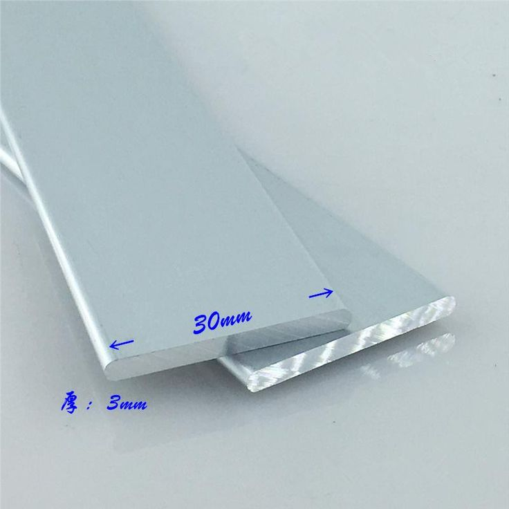Aluminium alloy plate 3mmx30mm round corner aluminum 6063-T5 oxidation width 30mm thickness 3mm length 500mm 1pcs