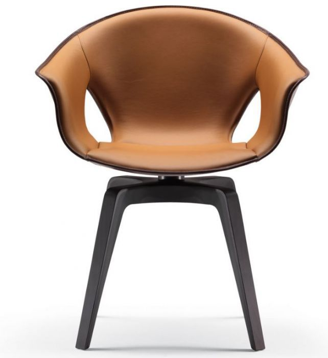 A rugged and #comfortable shell featuring a refined #simplicity:  #armchair #Ginger, designed by Roberto #Lazzeroni