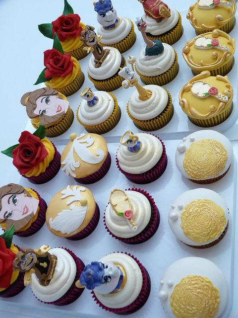 Beauty & the Beast cupcakes