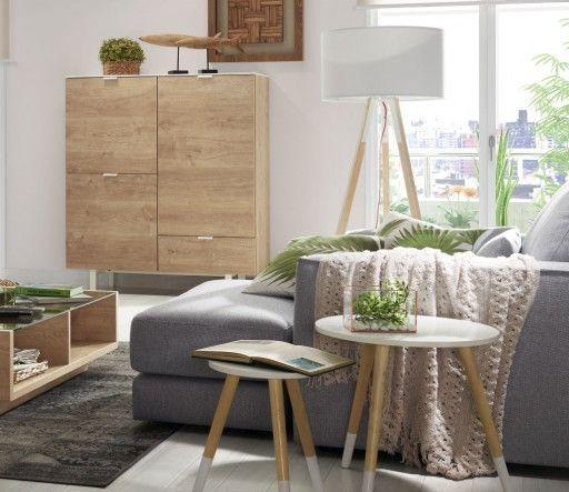 Consejos para elegir mesa auxiliar para tu salón. Mesas Punt con patas de madera