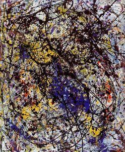 réflexion de l' grand `dipper` - (Jackson Pollock)