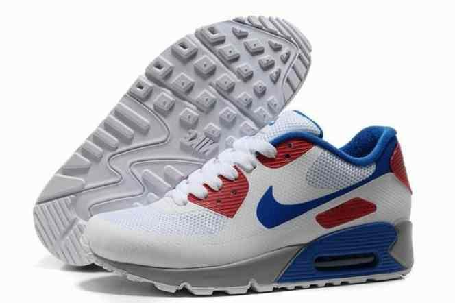 2015 Cheap Air Max 90 Hyperfuse Prm Womens Shoes For Sale White Blue Red…