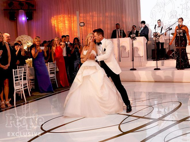 Kym Johnson & Robert Herjavec's Dreamy Wedding Album |  | Their first dance…