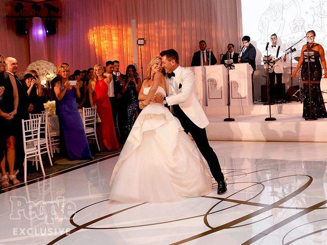 Kym Johnson & Robert Herjavec's Dreamy Wedding Album |  | Their first dance…