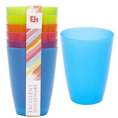 Drinkbeker set plastic 6 stuks