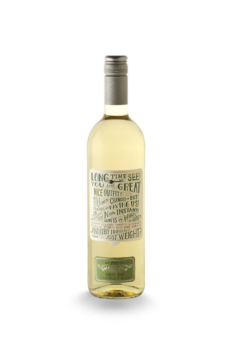Faux Pas- our riesling/ sauvignon blanc blend, refreshing and tart, much like a lot of the quotes on our bottle label!