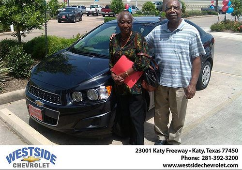 Thank you to Josie Harrison on the 2013 Chevrolet Sonic from Stanley   Vaughn and everyone at Westside Chevrolet!