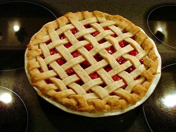 This is the best cherry pie recipe I've come across and have been using it for a few years now.  Hands down, the best cherry pie you will ever eat in your life.  This is our Thanksgiving staple.  Thought I would share this with everyone!  --Amanda :)
