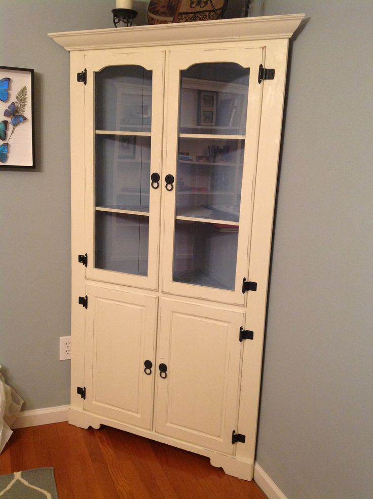 Refinished Corner Hutch With Annie Sloan Chalk Paint