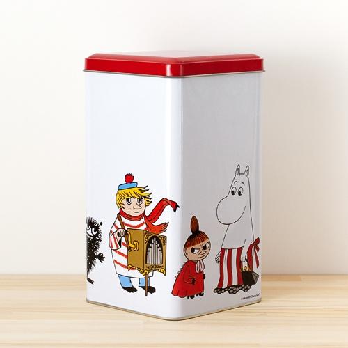 Moomin(Muumi)/ムーミン/ティン缶(L)/ホワイト×レッド
