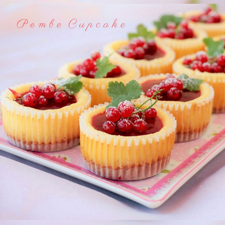 Frenk Üzümlü Mini Cheesecake