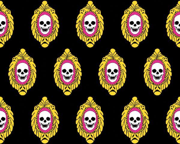 Brennan & Burch limited edition skull frame textured wallpaper