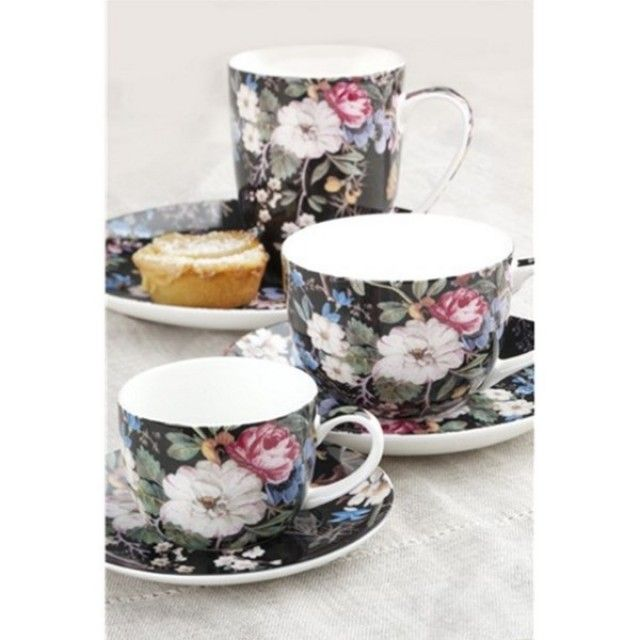 Maxwell & Williams Cashmere 'The William Kilburn Collection' Midnight Blossom tea set #afternoontea #giftideas