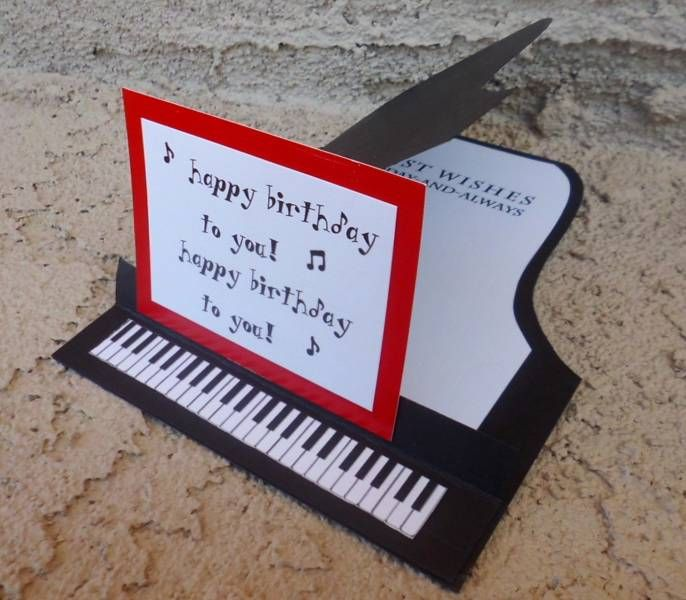 Birthday Card With A Piano
