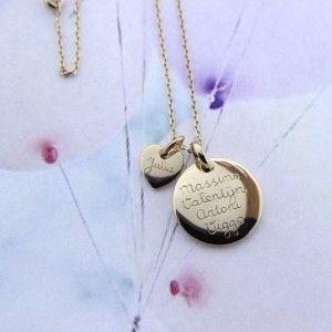 Inspiratie - mamaloves handgegraveerde, gepersonaliseerde sieraden