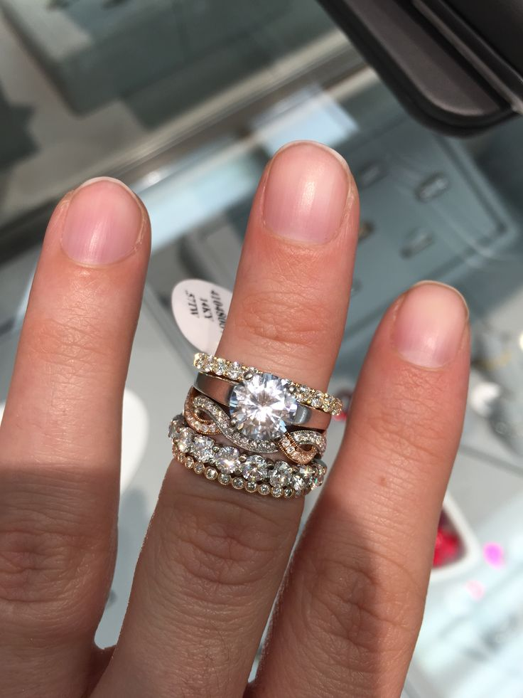 Show Me Your Mismatched Ring Sets — Pic Heavy  Weddingbee. Jadeite Rings. Roman Mens Rings. Peace Dollar Rings. Full Engagement Rings. Twisted Silver Engagement Rings. Stacked Wedding Rings. $100 Wedding Rings. Script Engagement Rings
